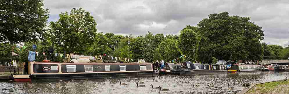 Canal Ministries Boats at the Newbury Mission 2017