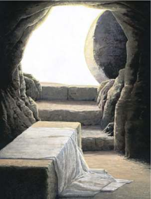 The Empty Tomb. Signifies Jesus' victory and our hope.